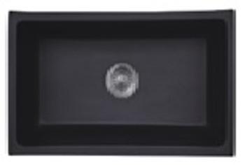 Undermount Single Bowl Granite Kitchen Sink - Matte Black 711*406*220mm