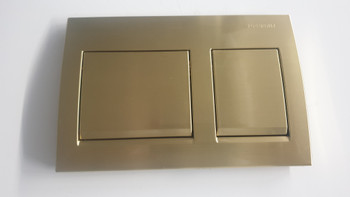 square urban brass push buttons to suit Alpha 8 Geberit inwall cistern