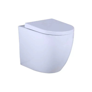 Sigma 8 -F Geberit inwall cistern with round black buttons with tornado pan