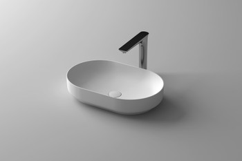 Solid Surface oval above counter vanity bowl (plug and washer not included)