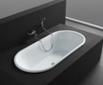 Oval inset bath - contactless pick up only from Warehouse