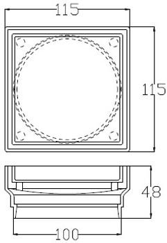 Tile over drain for shower or floor