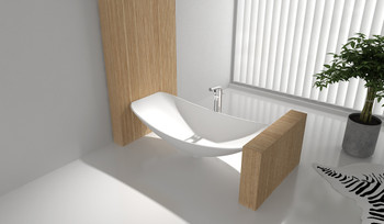 Solid Surface Oasis Hammock Bath Alabaster (matt white ) 2.0 metre long (this item is pick up only from Springvale)