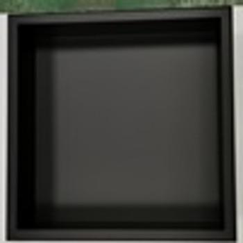 Matt Black Shower Niche Rainbow finish  - 400mmx 400mm x 75mm