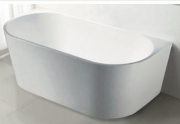 Free standing back to wall acrylic bath 1500mm long