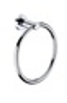 Star Round Towel Ring - Chrome