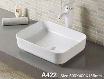 White Counter Top Vanity Basin with raised base - Take a look at our other basins