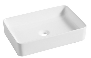 Above counter rectangular vanity bowl (no waste included)