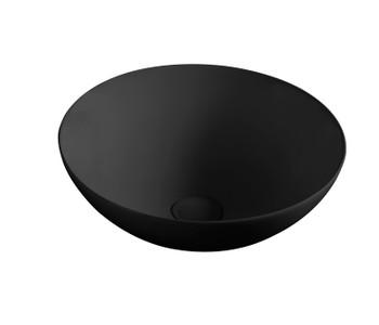 Round Matt Black Above Counter basin