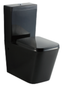 Black Square Wall Faced Toilet