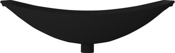 Solid Surface Oasis Hammock Bath Ebony (matt black ) 2.0 metre long (this item is pick up only from Springvale)