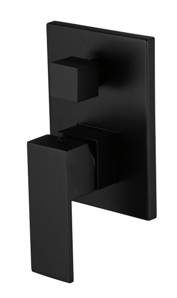 NEW!! Sun Square Black Diverter Shower Mixer