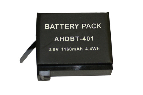 Battery for Camcorder GOPRO HERO 4, HERO 4 BLACK, HERO 4 SILVER - 3.8V / 1160MAH / 4.4WHR (GOP-1001)