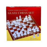 Classic Games Collection Glass Chess Set