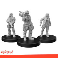 Monster Fight Club Cyberpunk Red RPG - Minis Combat Zoners A Heavies