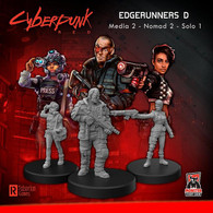 Monster Fight Club Cyberpunk Red RPG - Minis Edgerunners D Solo, Nomad, and Media