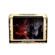 Wizkids Pathfinder Battles - City of Lost Omens Premium Figure Adult Red and Black Dragons
