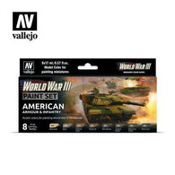 Vallejo Vallejo Model Colour 70220 - American Armour and Infantry Paint Set