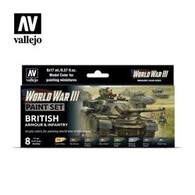 Vallejo Vallejo Model Colour 70222 - British Armour and Infantry Paint Set