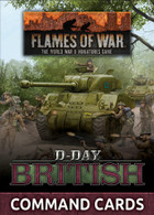 Battlefront Miniatures Flames of War - D-Day British Command Cards 47 cards