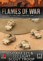 Battlefront Miniatures Flames of War - SD KFZ 221 and 222 Light Scout Troop
