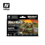 Vallejo WW3 Vallejo 70223 NATO Armour and Infantry Paint Set