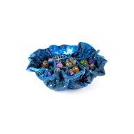 MDG Velvet Compartment Dice Bag with Pockets - Galaxy