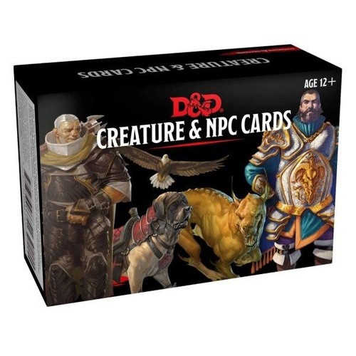 Hasbro DandD Creature and NPC Cards