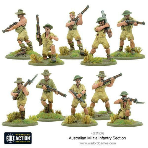 Warlord Games Bolt Action - Australian Militia Infantry Section Pacific