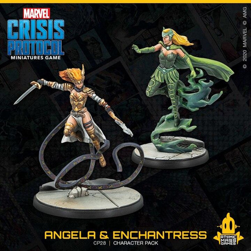 Atomic Mass Games Marvel Crisis Protocol - Angela and Enchantress