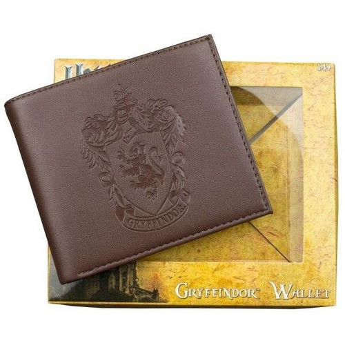 Ikon Collectables Harry Potter - Gryffindor Logo Embossed Brown Wallet
