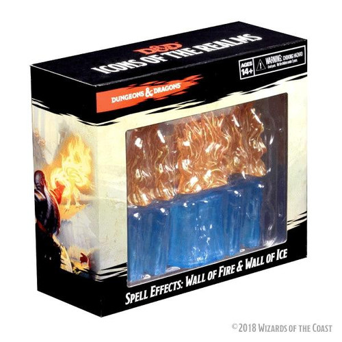Wizkids DandD Icons of the Realms - Spell Effects Wall of Fire and Wall of Ice