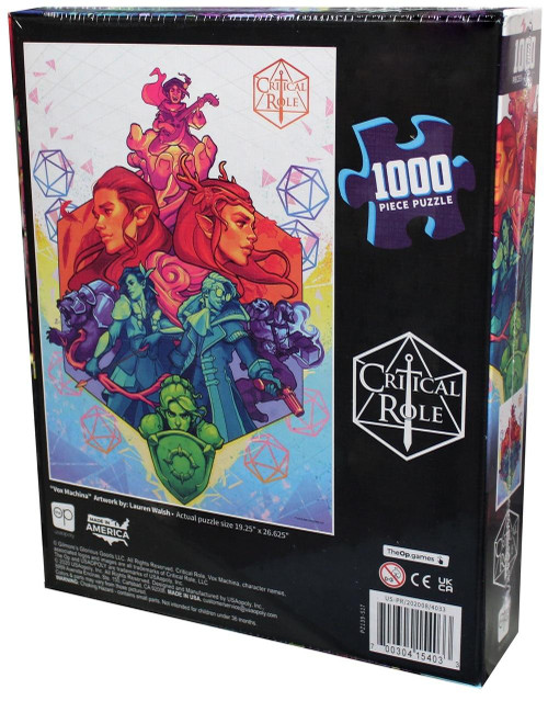 USAopoly Critical Role Vox Machina Puzzle 1000pc