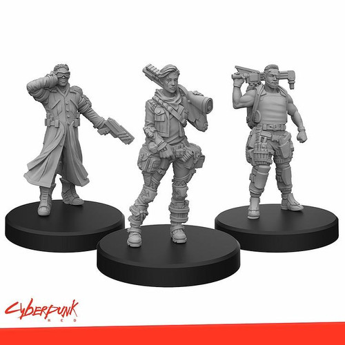 Monster Fight Club Cyberpunk Red RPG - Minis Edgerunners B Tech, Nomad, and Fixer