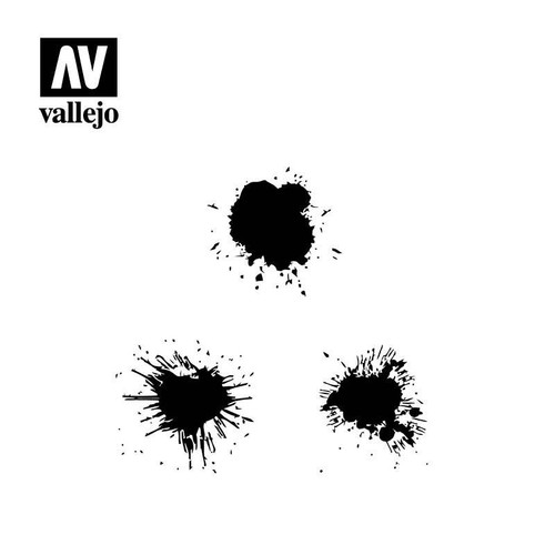 Vallejo Vallejo Stencils - Texture Effects Paint Stains