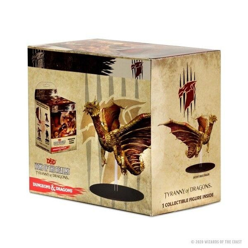 Wizkids DandD Icons Of The Realms Premium Figure - Tyranny of Dragons Ancient Brass Dragon