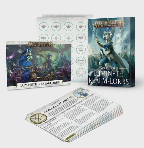 Games Workshop AOS Lumineth Real-Lords - Warscroll Cards