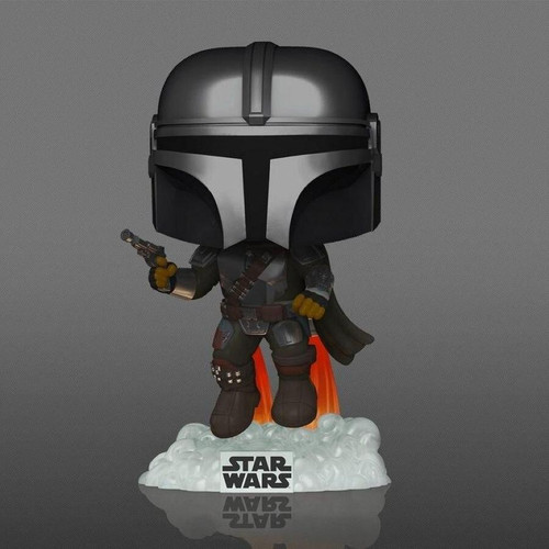 Funko Pop - Star Wars The Mandalorian - Mandalorian Flying Glow in the Dark