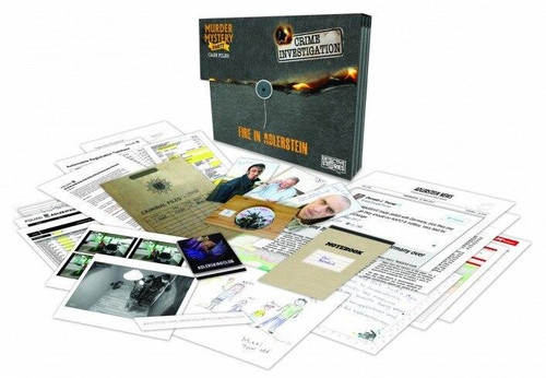 University Games Murder Mystery Case Files - Unsolved Crimes Fire in Adlerstein