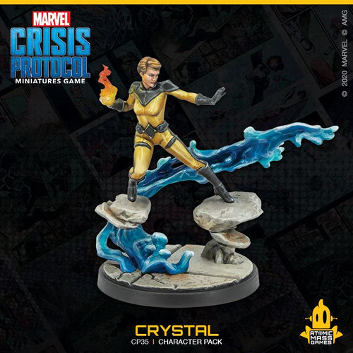 Atomic Mass Games Marvel Crisis Protocol Expansion - 35 Crystal and Lockjaw