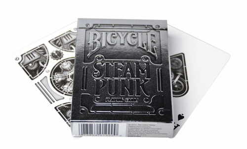 United States Playing Card Company Bicycle - Silver Steampunk Premium Playing Cards