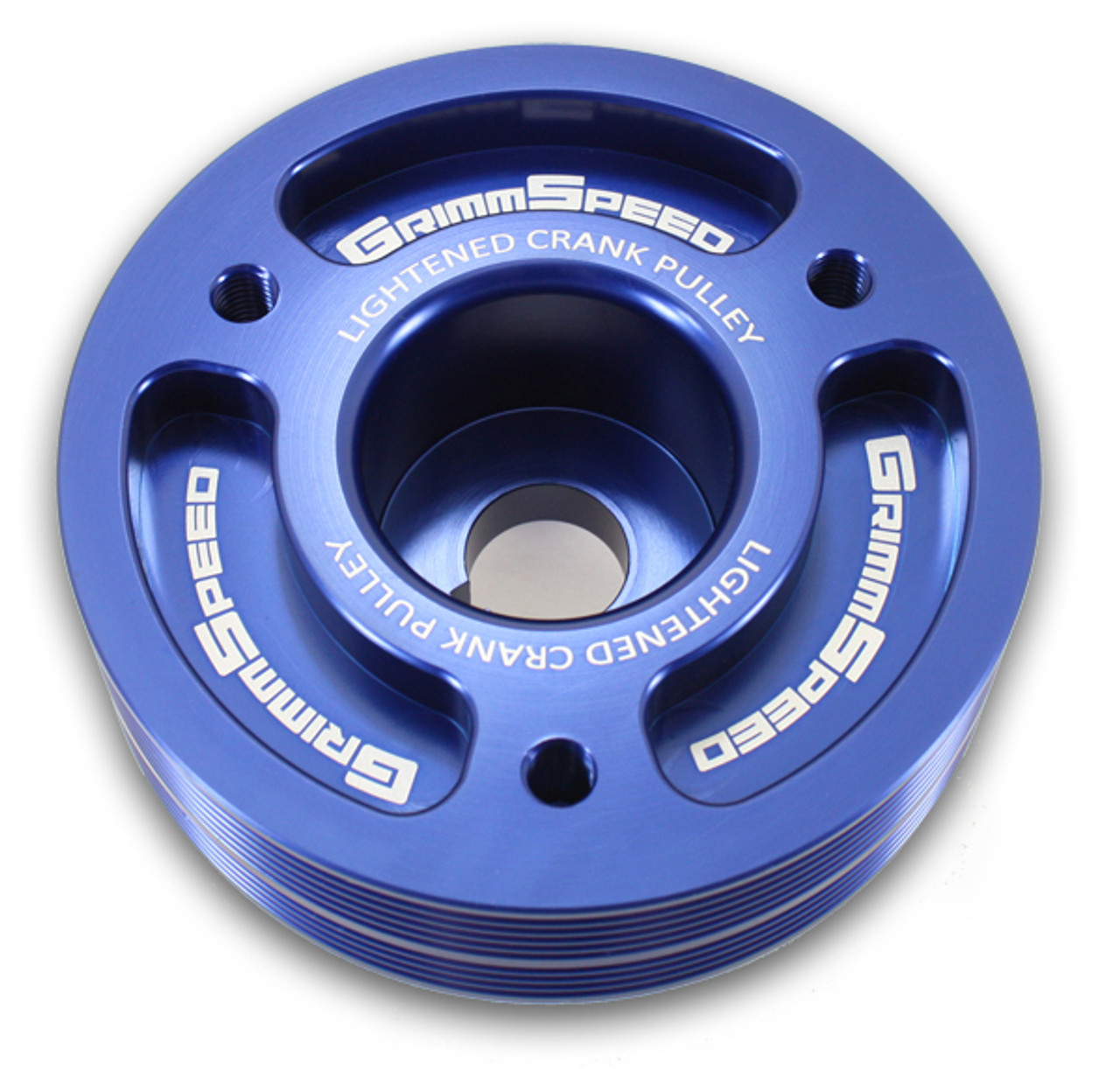 Grimmspeed Lightweight Crank Pulley Blue All EJ Engines
