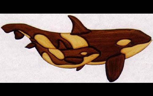 WHALE OF A PAIR INTARSIA PATTERN