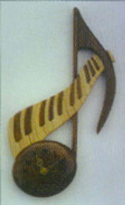 MUSICAL NOTE INTARSIA PATTERN