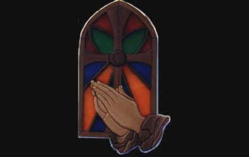 PRAYING HANDS INTARSIA PATTERN