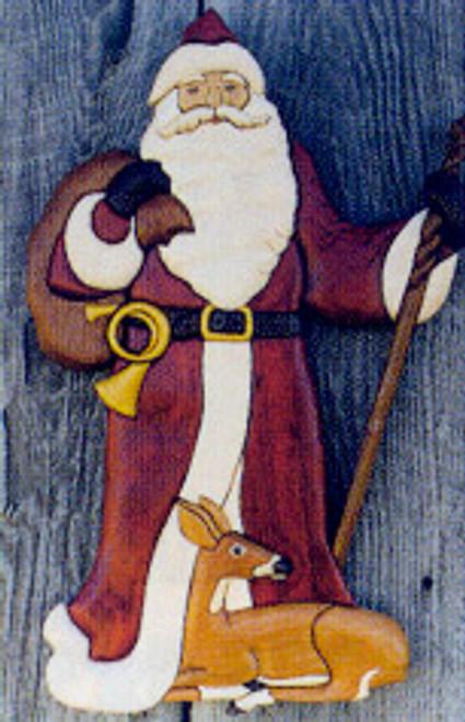 FATHER CHRISTMAS INTARSIA PATTERN