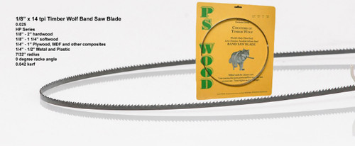 """1/8"""" x 14HP Series Timber Wolf® Band Saw Blade"""