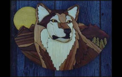 WOLF INTARSIA PATTERN
