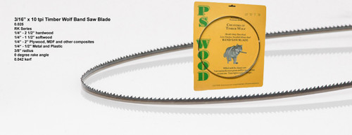 """3/16"""" x 10RK Series Timber Wolf® Band Saw Blade"""