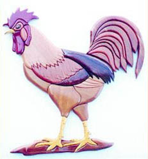 ROOSTER INTARSIA PATTERN